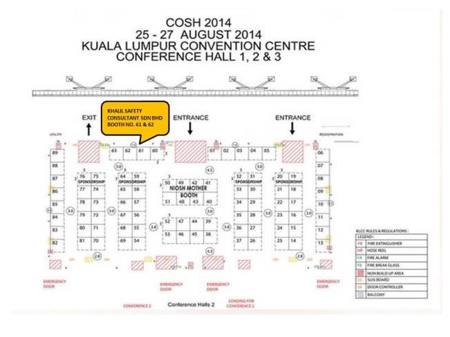 COSH 2014 Exhibition booth 61 & 62